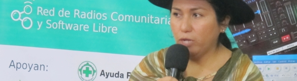 Ministra de Comunicación de Bolivia, Marianela Paco en la inauguración